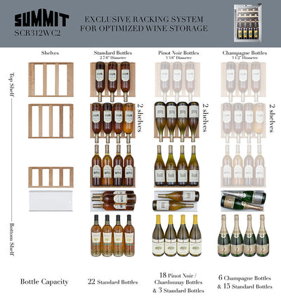 Summit Compact 22 Bottle Wine Cellar - Swings and More
