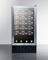"Summit 18"" Wide Built-In 34 Bottle Wine Cellar, ADA Compliant - Swings and More"