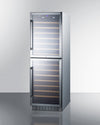 "Summit 24"" Wide 118 Bottle Dual Zone  Wine Cellar - Swings and More"