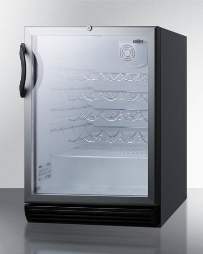 "Summit 24"" Wide Built-In Wine Cellar 35 Bottle Single Zone ADA Compliant - Swings and More"