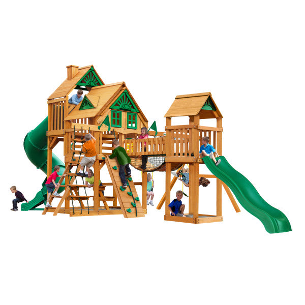 Gorilla Playset Treasure Trove Treehouse w/ Amber Posts 01-1037-AP - Swings and More