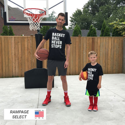 "First Team Rampage Eclipse Portable Adjustable Basketball Hoop 36""x 60"""