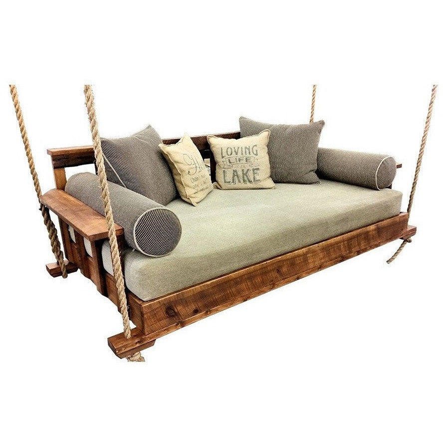 The R&R Reclaimed Wood Porch Swing Bed - Swings and More