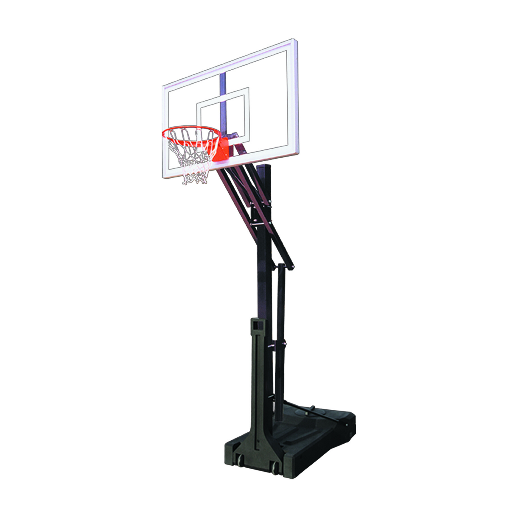 "First Team OmniSlam Turbo Portable Adjustable Basketball Hoop 36""x54"""