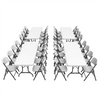 Image of Lifetime (4) 8-Foot Rectangle Tables and (32) Chairs Combo - Swings and More