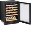 "U-Line 24"" Wide 48 Bottle Single Zone Panel Overlay Built-In Wine Refrigerator - Swings and More"