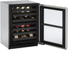 "U-Line 24"" Wide 3000 Series 43 Bottle Dual Zone Stainless Steel  Wine Refrigerator - Swings and More"