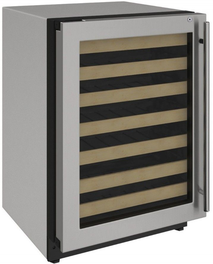 "U-Line 24"" Wine Captain 2000 Series 43 Bottle Wine Refrigerator Stainless Steel  U-2224WCS-15A - Swings and More"