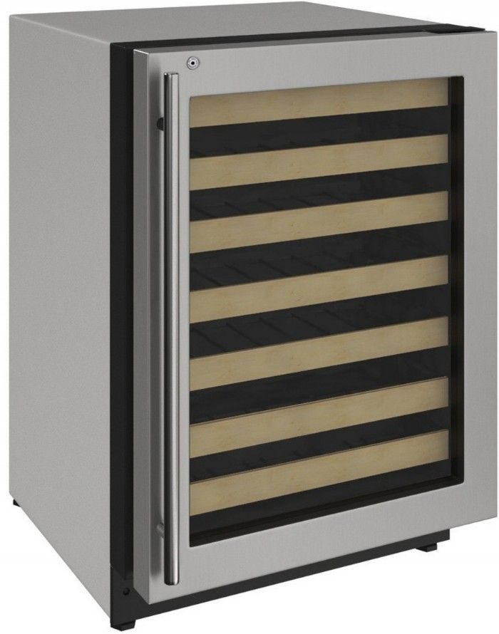 "U-Line 24"" Wine Captain 2000 Series 43 Bottle Wine Refrigerator Stainless Steel U-2224WCS-00A - Swings and More"