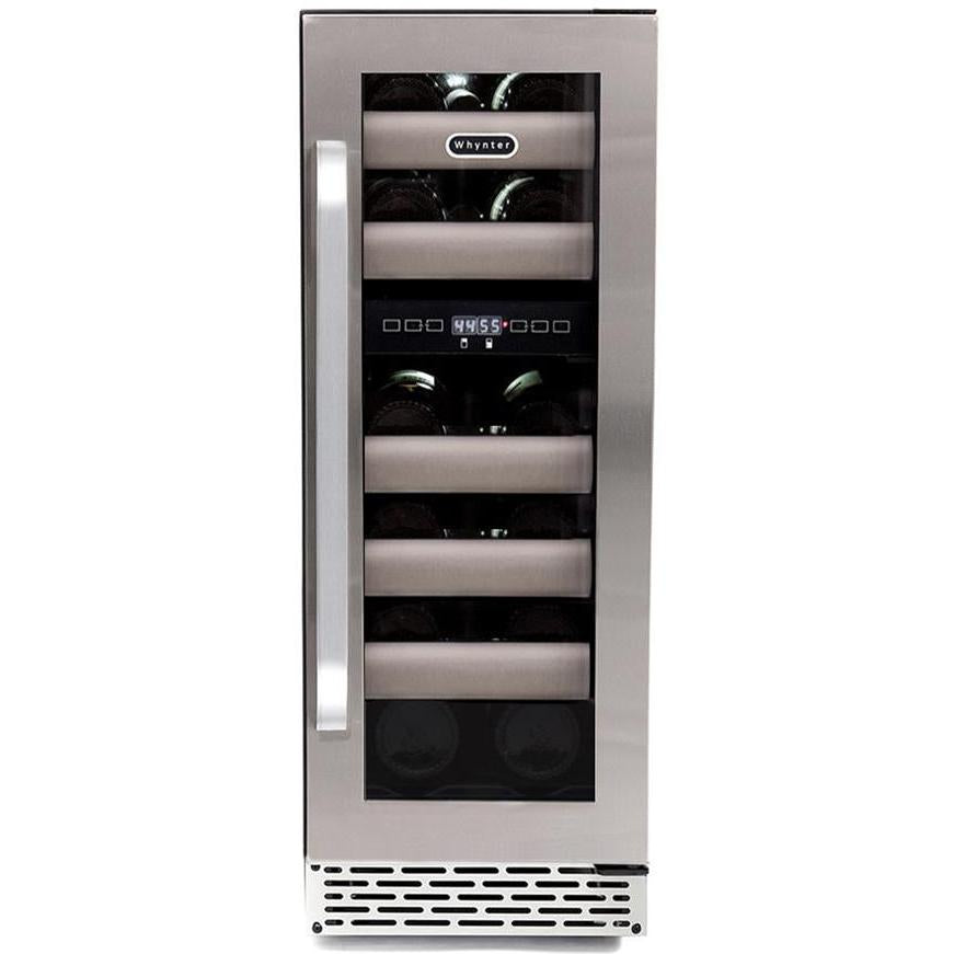 Whynter Elite 17 Bottle Seamless Stainless Steel Door Dual Zone Built-in Wine Refrigerator BWR-171DS - Swings and More
