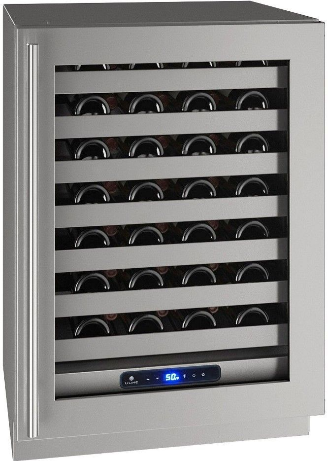 "U-Line 24"" Wine Captain 5 Series 49 Bottle Wine Refrigerator UHWC524-SG01A - Swings and More"