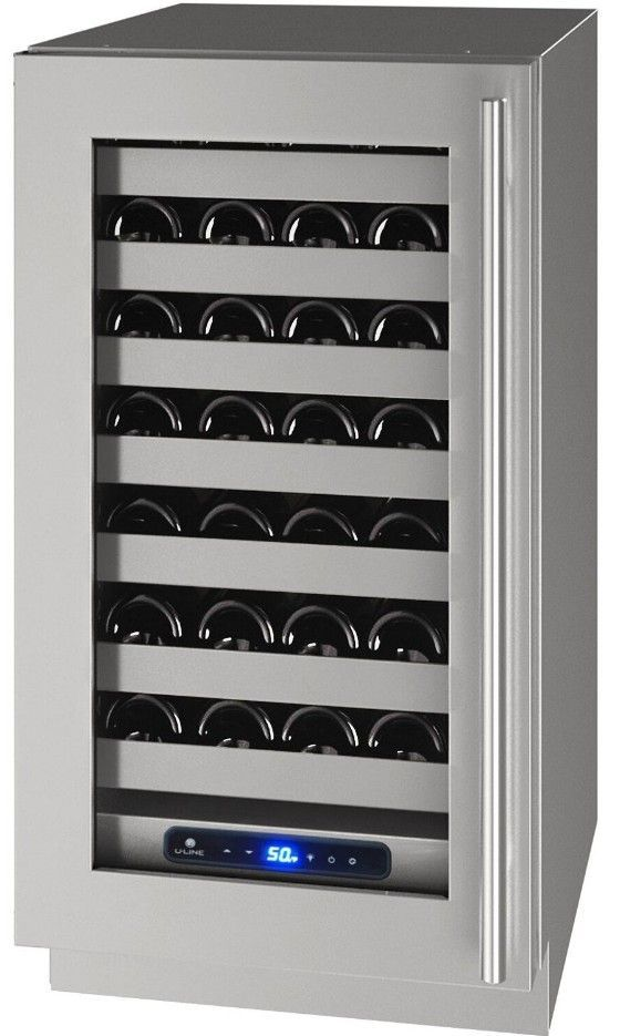 "U-Line 18"" Wine Captain 5 Series 35 Bottle Wine Refrigerator Left Hinge UHWC518-SG51A - Swings and More"