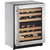 "U-Line 24"" Wide 43 Bottle Dual Zone Stainless Steel Wine Refrigerator Right Hinge U-2224ZWCS-13B - Swings and More"
