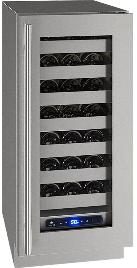 "U-Line 15"" Wine Captain 5 Series 28 Bottle Wine Refrigerator UHWC515-SG41A - Swings and More"