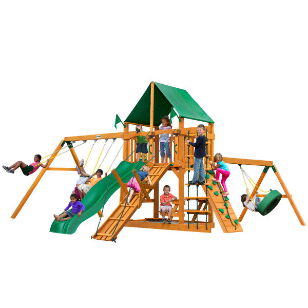 Gorilla Playsets Frontier Swing Set with Vinyl Canopy 01-0004-AP-1 - Swings and More
