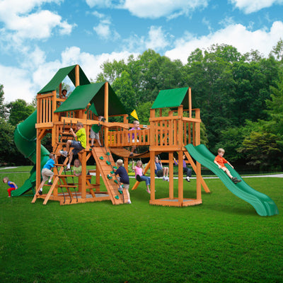 Gorilla Playsets Treasure Trove I Swing Set with Sunbrella Canvas Canopy 01-1021-AP-2 - Swings and More