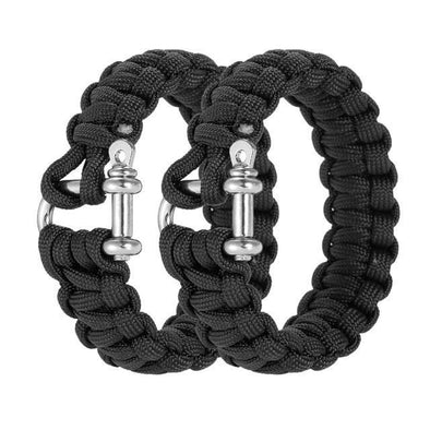 2 - Piece Paracord Bracelets - Outdoor King
