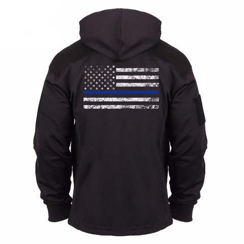 Thin Blue Line Concealed Carry Hoodie - Outdoor King