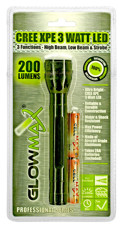 200 Lumen Professional Series LED Flashlight - Outdoor King
