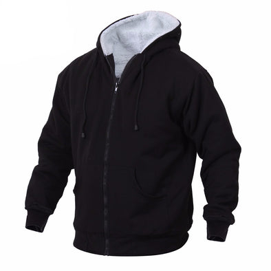 Heavyweight Sherpa Lined Zippered Sweatshirt - Outdoor King