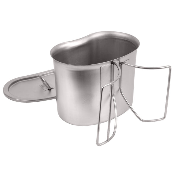 Stainless Steel Canteen Cup and Cover Set - Outdoor King