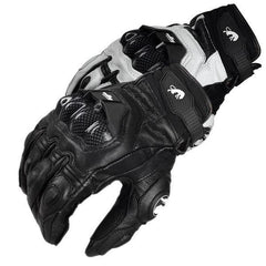 Carbon Knuckle Guard Leather Gloves