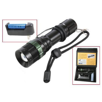 3 Watt LED Flashlight With Charger - Outdoor King