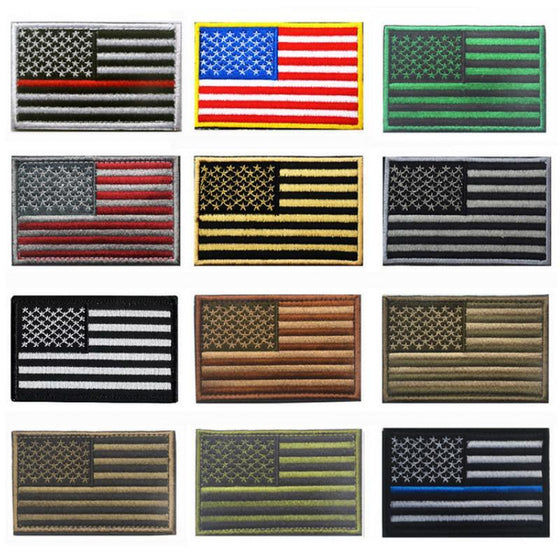American Flag Embroidery Patch-Outdoor King