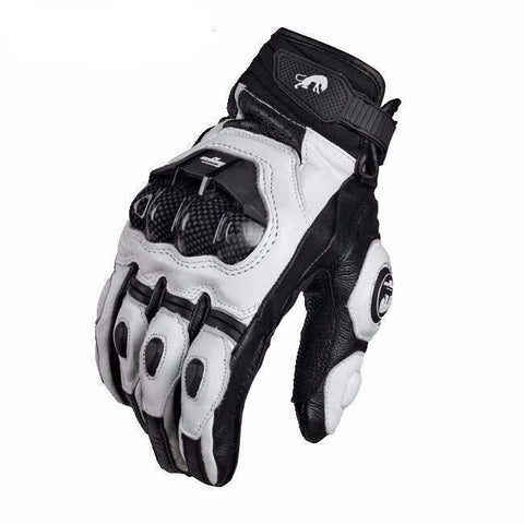 Carbon Knuckle Guard Leather Gloves - Outdoor King