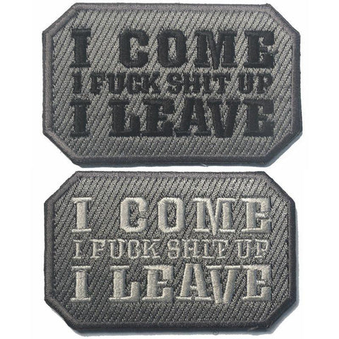 I COME I LEAVE Embroidered Patch-Outdoor King