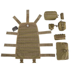 MOLLE Seat Cover Full Rig w/ High Grade Pouches