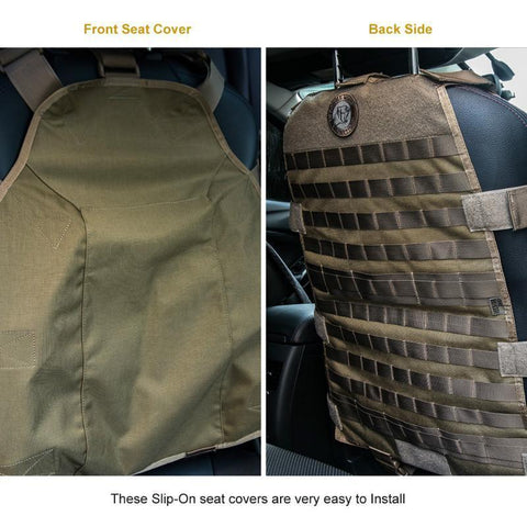MOLLE Seat Cover Full Rig w/ High Grade Pouches-Outdoor King