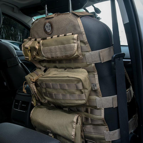MOLLE Seat Cover Full Rig w/ High Grade Pouches - Outdoor King