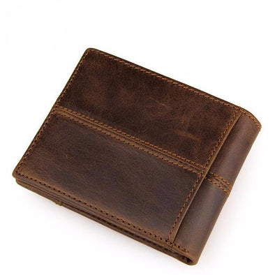 Bi-Fold Genuine Leather Wallet - Outdoor King