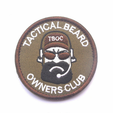 Tactical Beard Owners Club Patch - Outdoor King