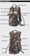 Multicolor Hydration Pack + 2.5L Bladder - Outdoor King
