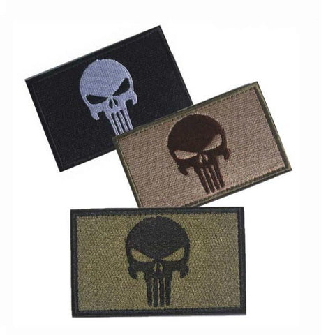 Punisher Skull Embroidery Patch-Outdoor King