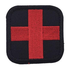 Red Cross Medic Embroidery Patch