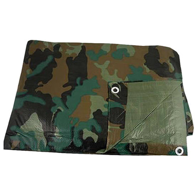 Tarp, PE 10' x 12' Shelf Pack Camouflage - Outdoor King