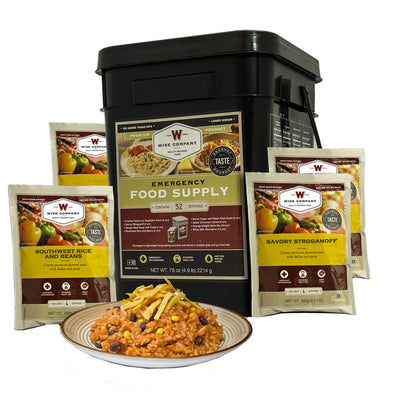 Prepper Pack Emergency Meal Kit Bucket - Outdoor King