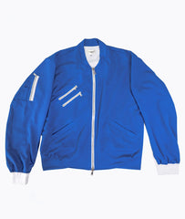 Blue Mesh Bomber Jacket