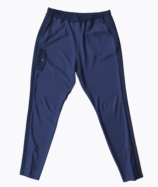 Navy Mesh Travel Pants