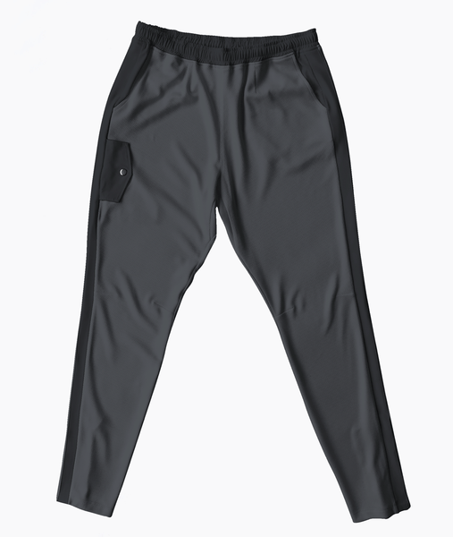 Grey Mesh Travel Pants