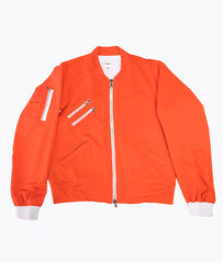 Orange Mesh Bomber Jacket