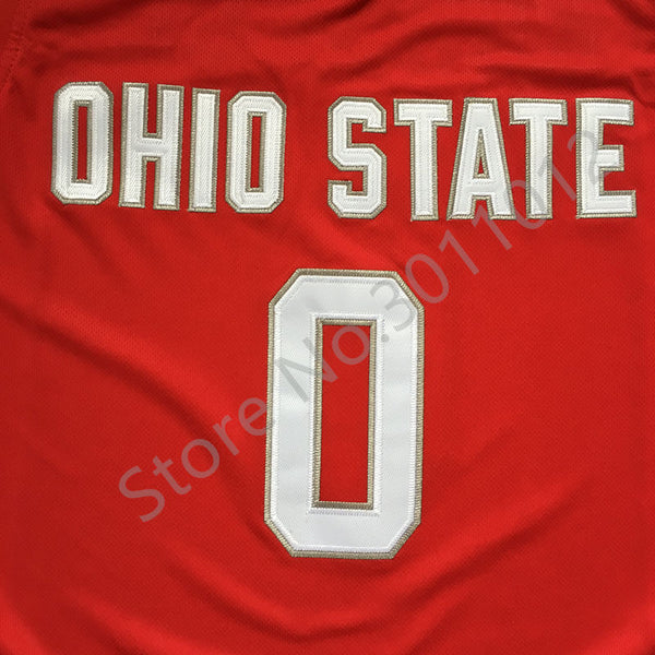 pretty nice 4bd0b 1ccf2 #0 D'Angelo Russell ohio state Basketball jersey Embroidery Stitched Custom  any Number and name D Angelo
