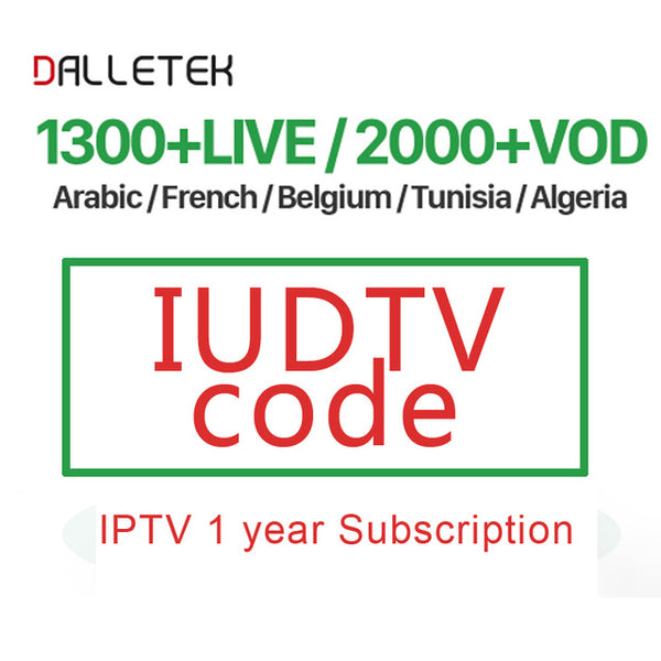 1 year IUDTV code M3U APK Italia Spain UK arabic europ iptv subscription  account for Android TV box over 3000 channels