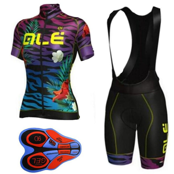 ... 2017 Ale Cycling Jersey set Women Short Sleeve Breathable ropa Ciclismo  Mountain Bike shirts bicycle bib ... f9d808035