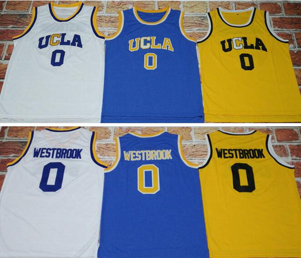 sale retailer 43eb3 7dd7c 2017 UCLA #0 Russell Westbrook Bruins Home Crenshaw Blue Road Jersey MVP  Throwback Basketball Jerseys Stitched Embroidery Logos