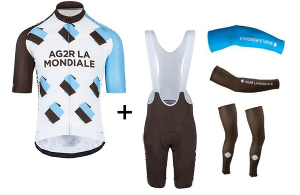 ... 2018 Ag2r team Cycling jersey bike shorts set breathable Ropa Ciclismo  bicycle wear mens Summer Quick ... 30e450f81