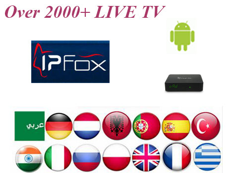 2018 IPFOX IPTV code account used on FOXSTAR IP50 or Android box with IPFOX  Arabic Channels support 2000+ HD channels for 1 year